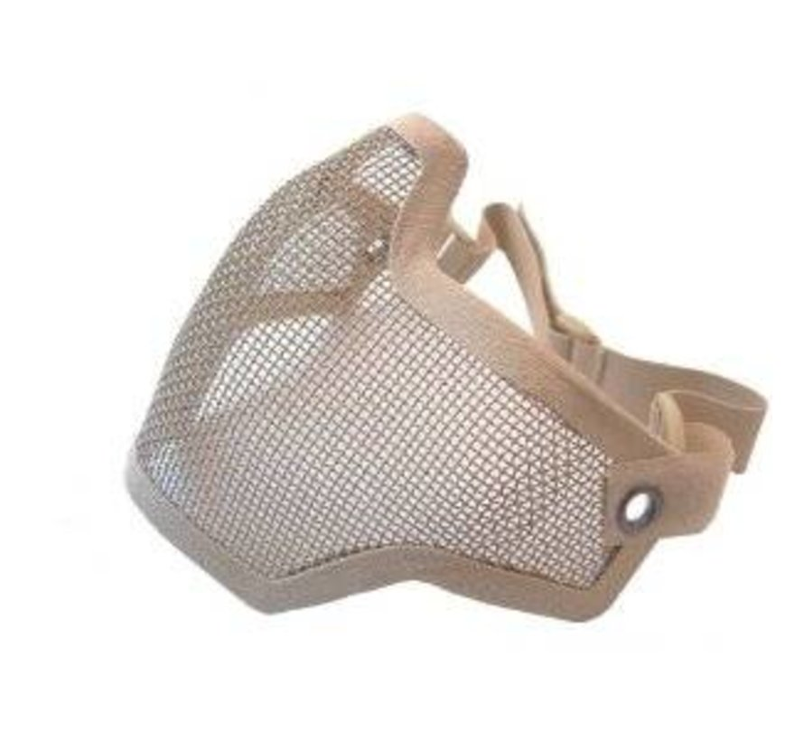 Half Face Mesh Mask (Tan)