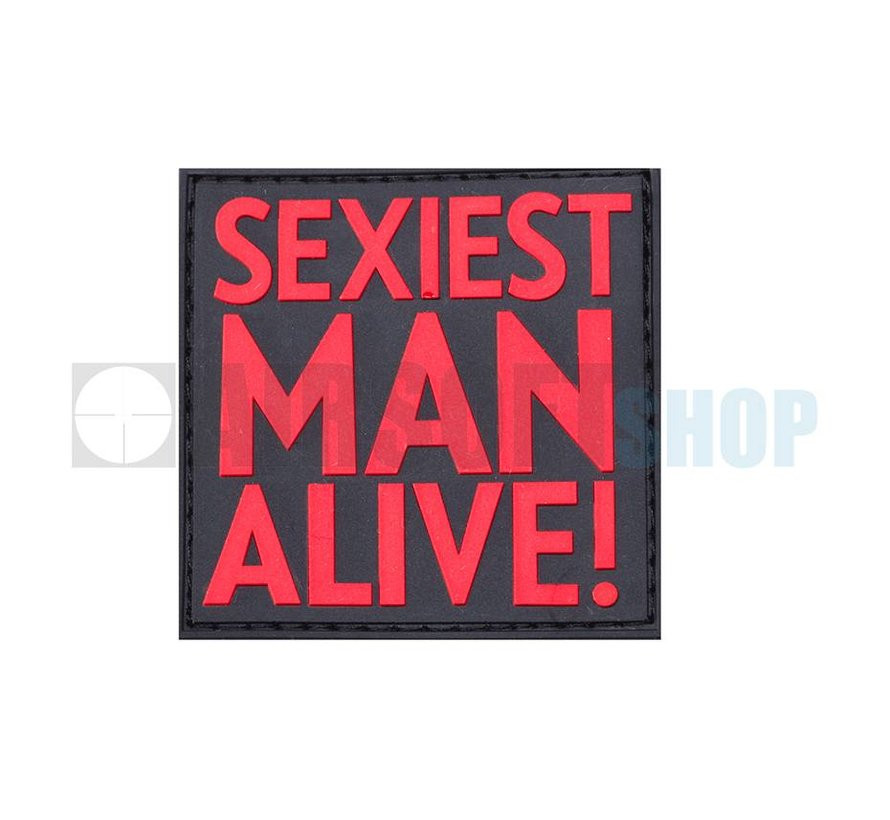 Sexiest Man Alive PVC Patch (Red)