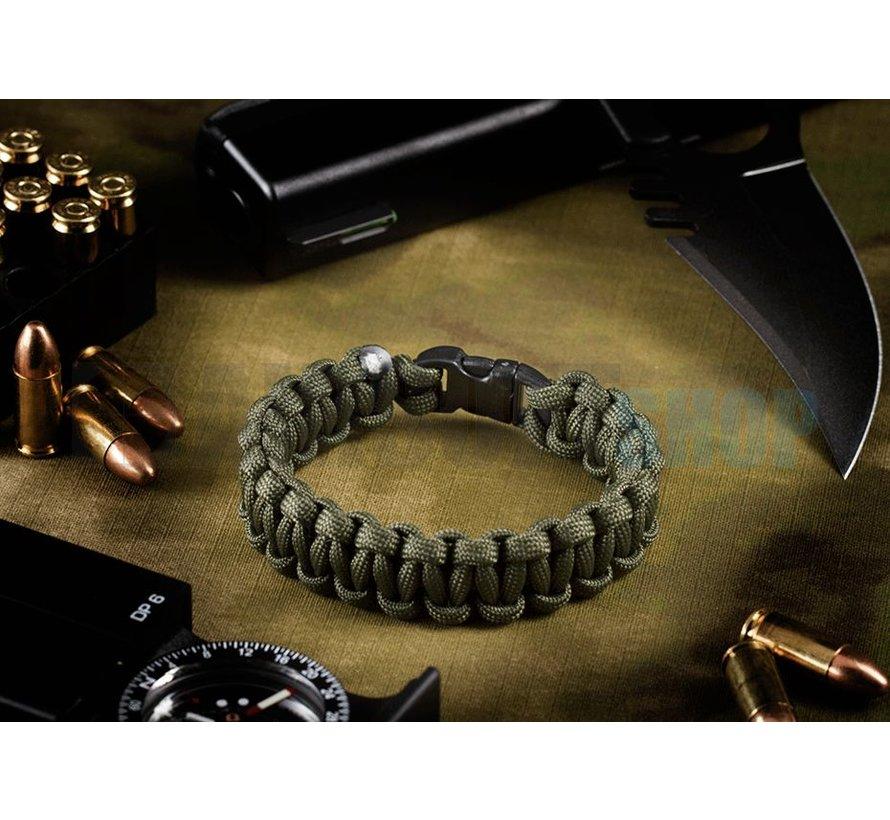 Paracord Bracelet Compact (Olive Drab)