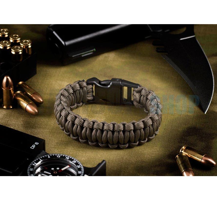Paracord Bracelet (Gun Grey)