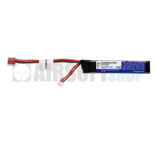 Pirate Arms LiPo 7.4V 1100mAh 15C Stick Type (Deans)