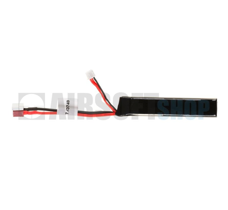 LiPo 7.4V 1100mAh 15C Stick Type (Deans)