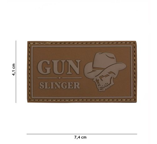 101 Inc Gun Slinger Skull Cowboy Patch (Coyote)