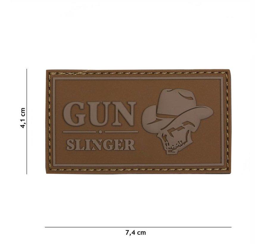 Gun Slinger Skull Cowboy Patch (Coyote)