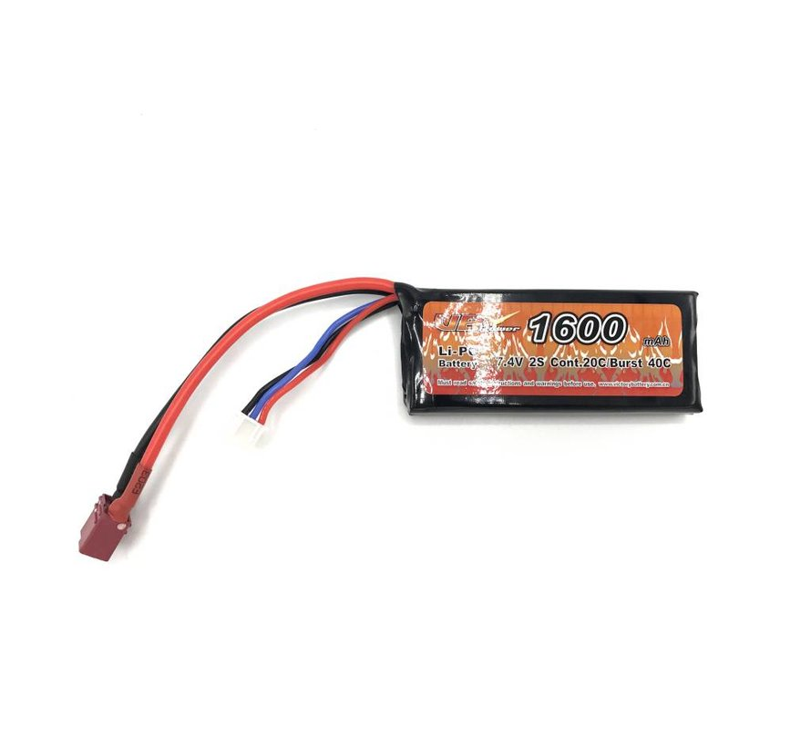 LiPo 7.4V 1600mAh 20C Mini Type (Deans)