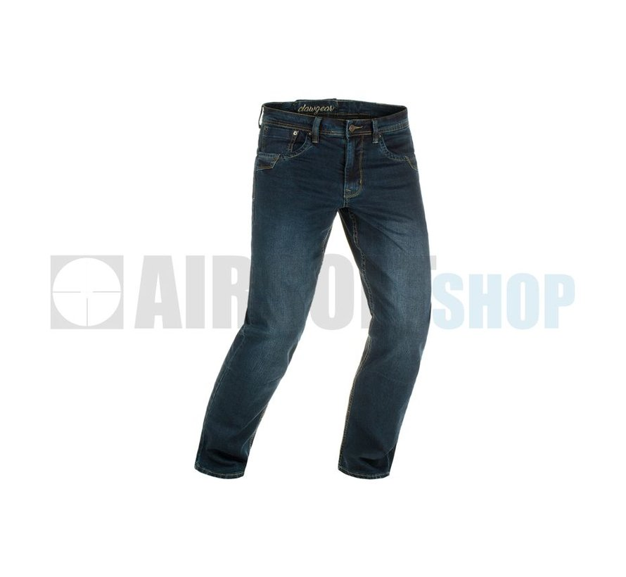 Blue Denim Washed Tactical Flex Jeans (Midnight)