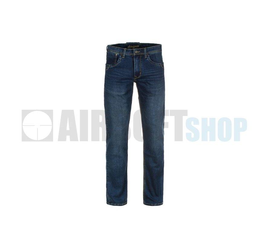 Blue Denim Washed Tactical Flex Jeans (Sapphire)
