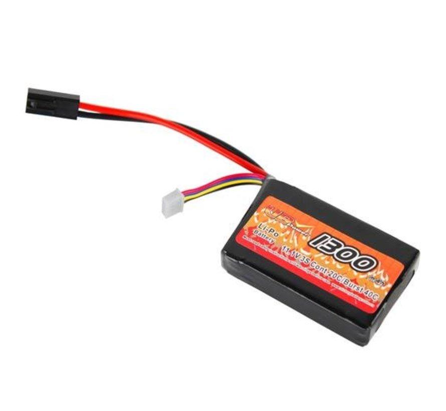 LiPo 7.4V 1300mAh 15C Mini Type