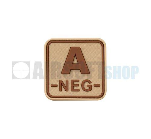 JTG Bloodtype Square PVC Patch A NEG (Desert)