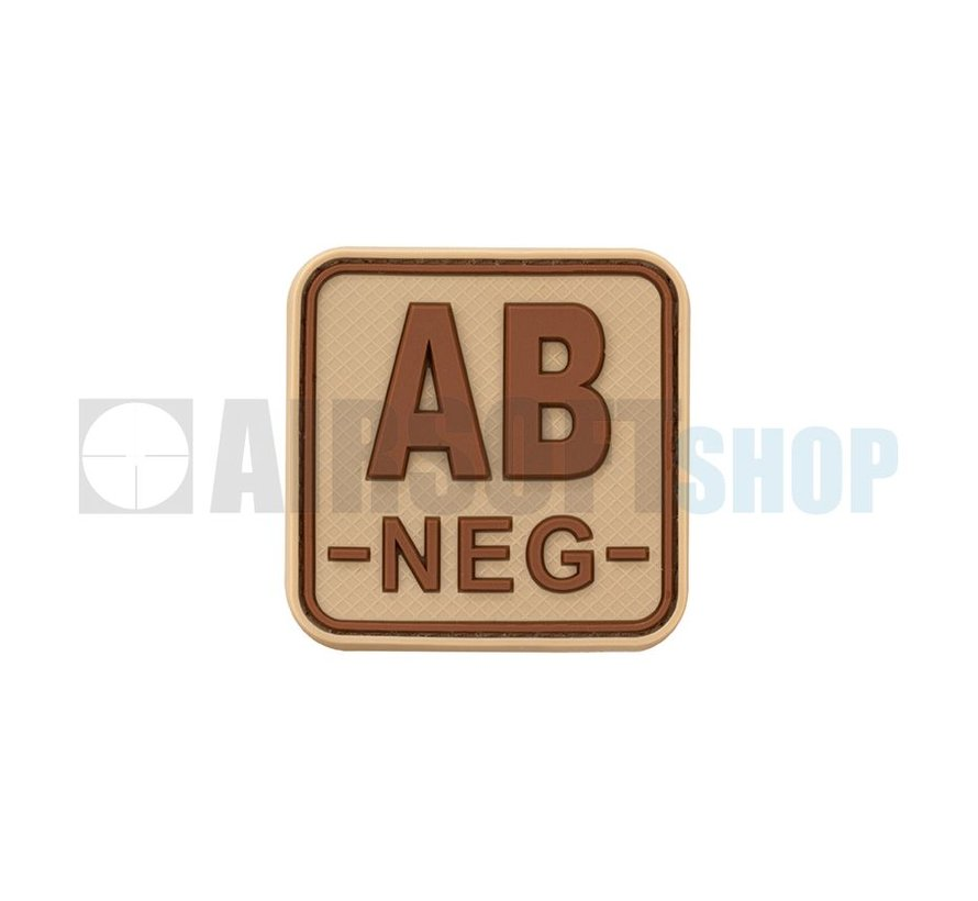 Bloodtype Square PVC Patch AB NEG (Desert)