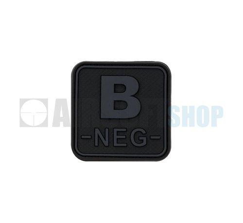 JTG Bloodtype Square PVC Patch B NEG (Blackops)