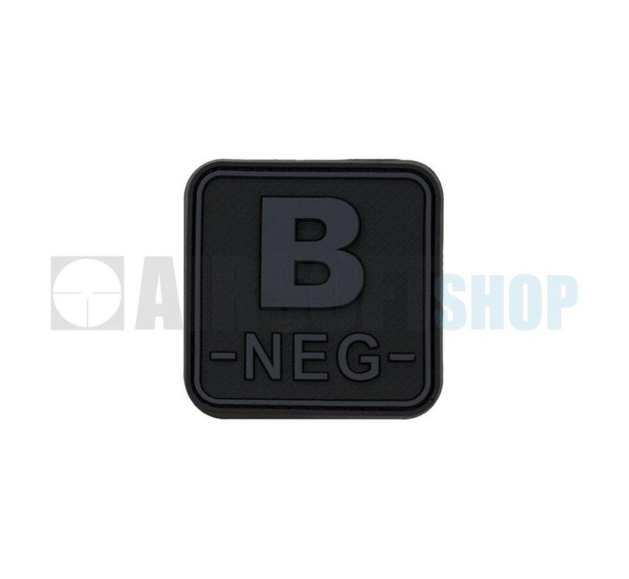Bloodtype Square PVC Patch B NEG (Blackops)