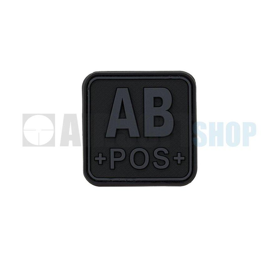 Bloodtype Square PVC Patch AB POS (Blackops)