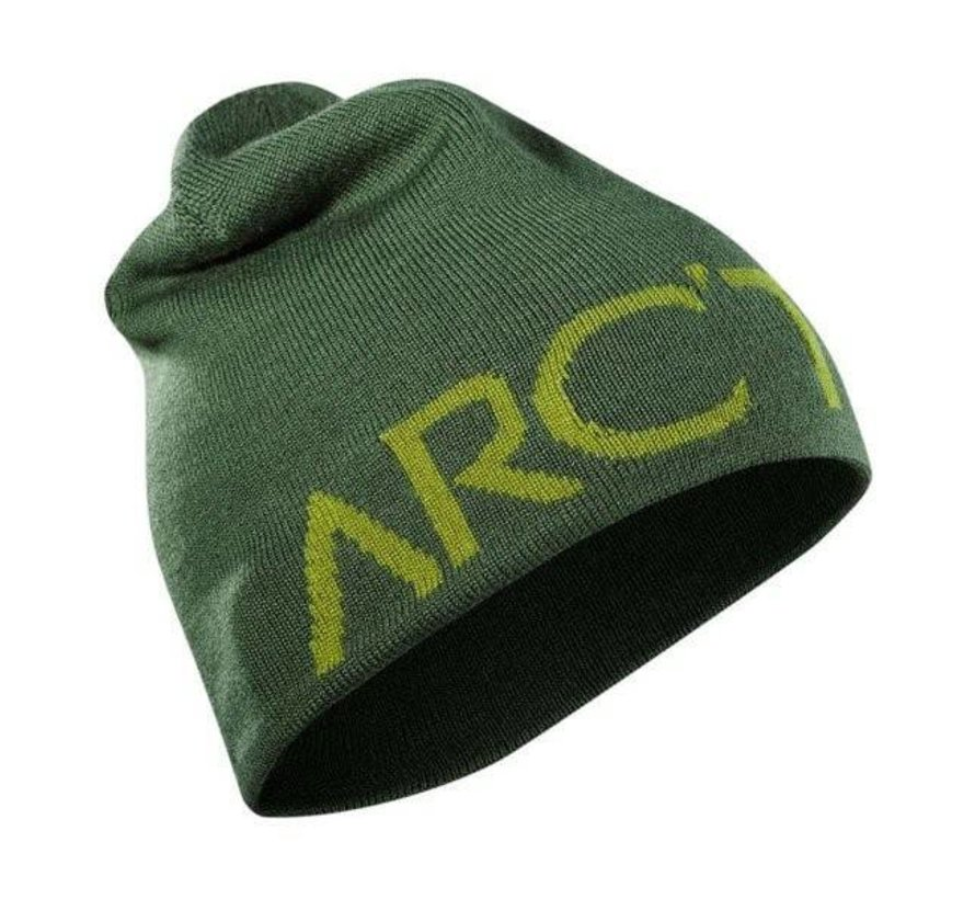 Word Head Long Toque Beanie (Olive)