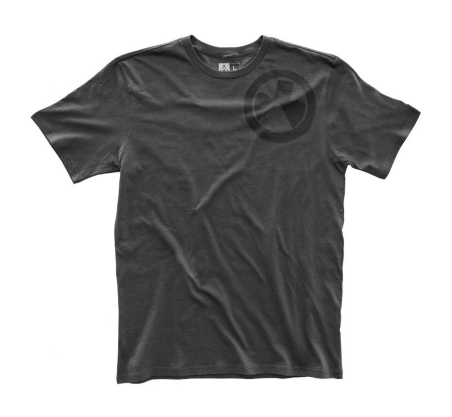 Fine Cotton Wet Logo T-Shirt (New Charcoal)