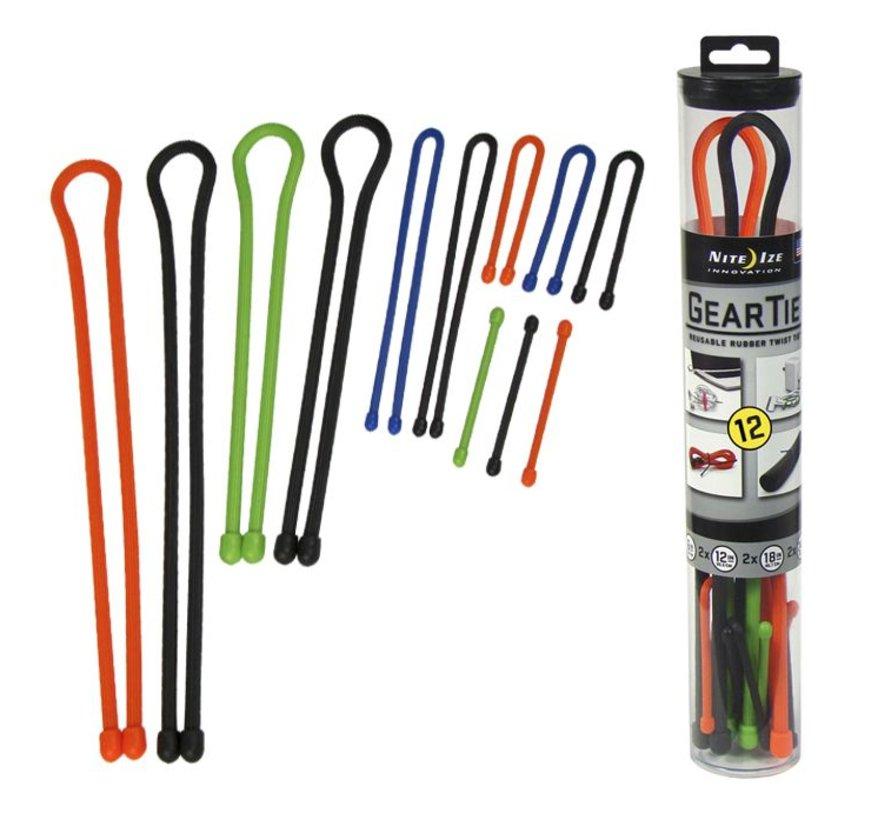 Gear Tie Tube 12Pack