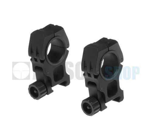 Aim-O M10 Mount Rings 25.4mm/30mm (Black)