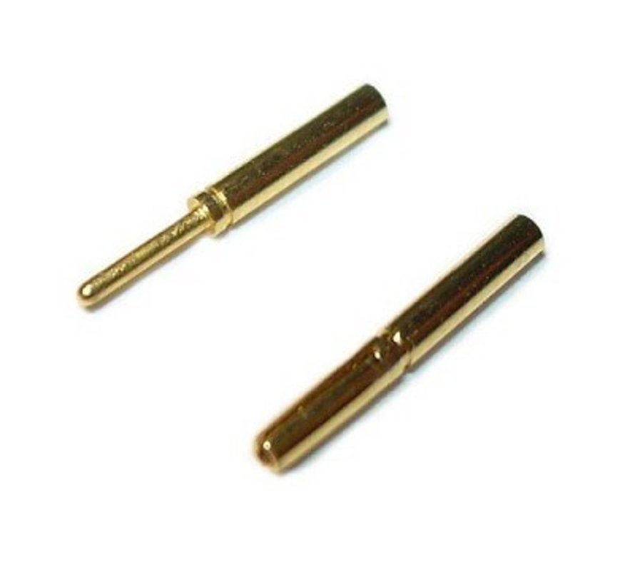 Bullet Connectors 0,8mm (Pair)