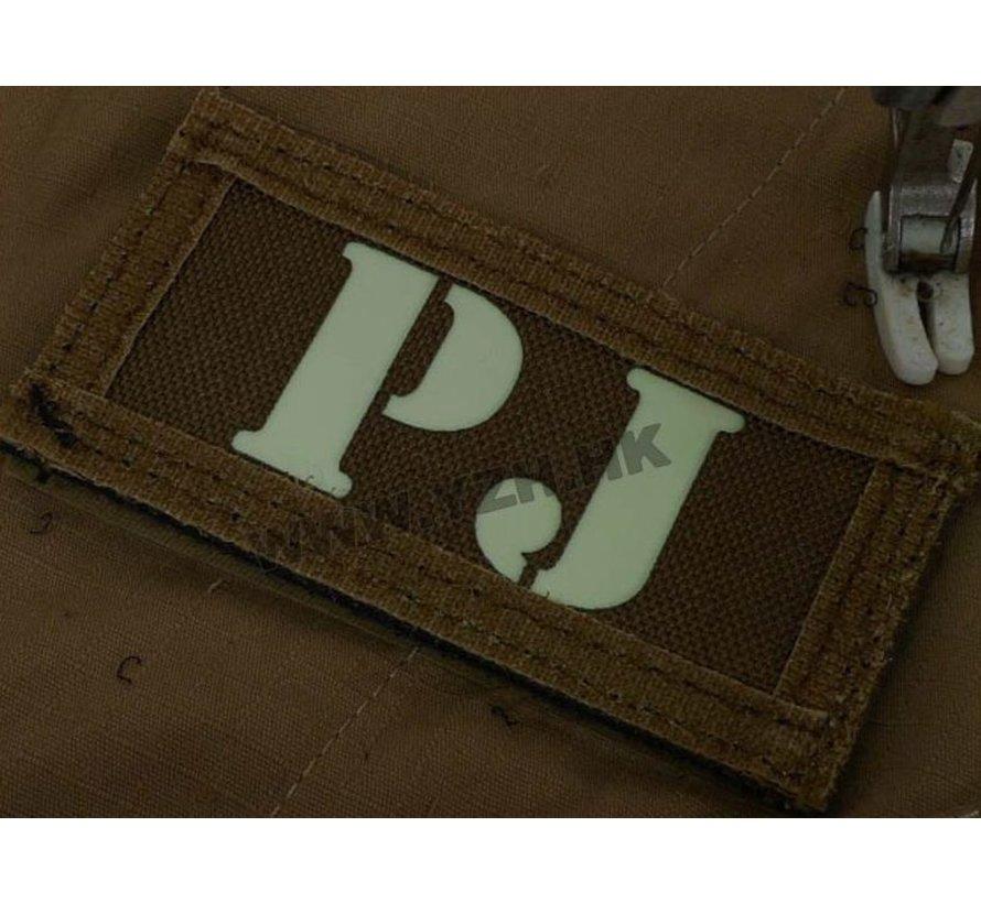 PJ IR Callsign Patches (Black/Tan)