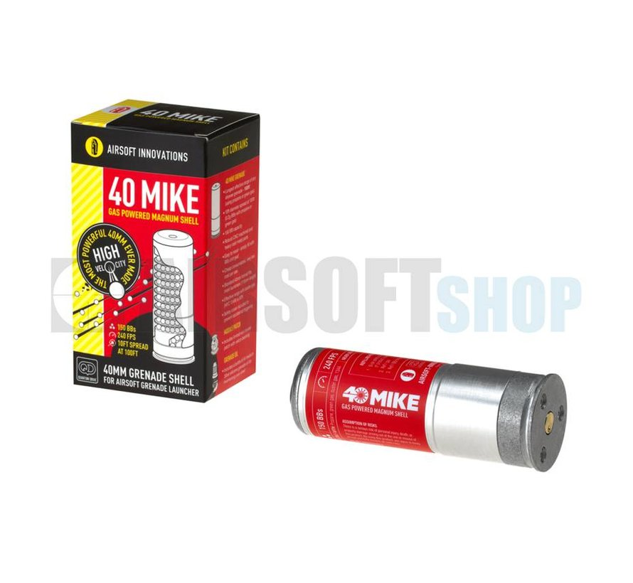 40 Mike Gas Magnum BB Grenade Shell