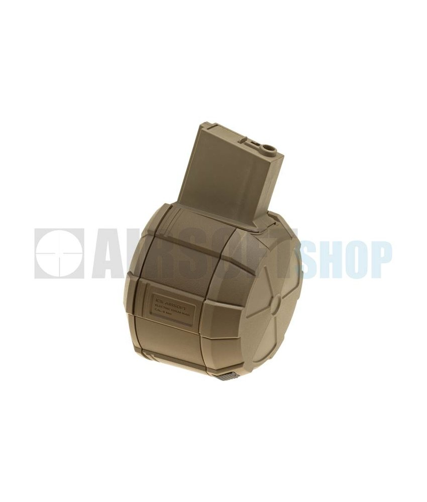 ICS Drum Magazine M4 1800rds (Tan)