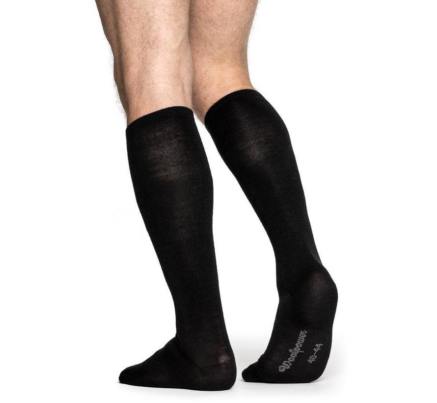 Liner Knee-High Socks (Black)