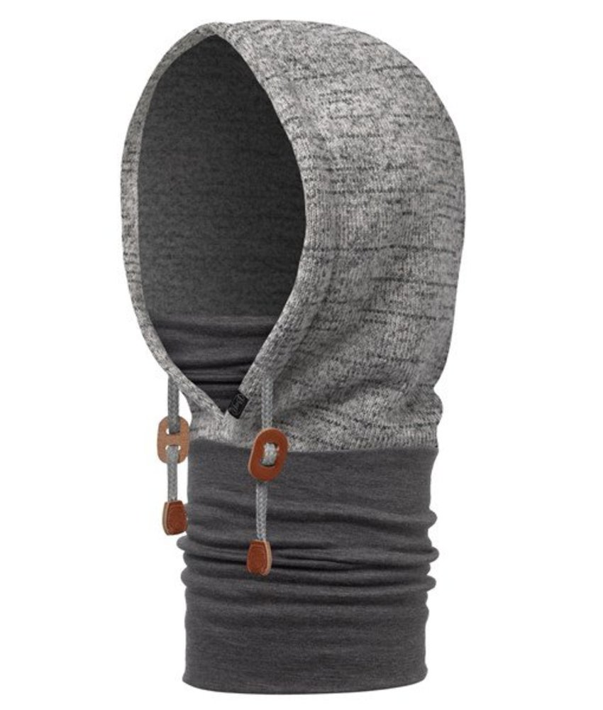 Buff Polar Thermal Hoodie Melange Grey