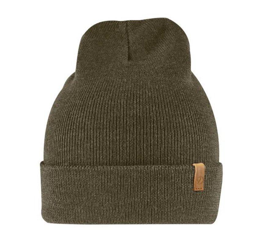 Classic Knit Hat (Dark Olive)