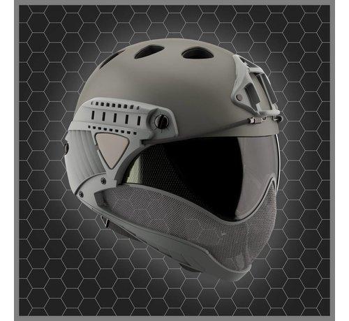 WARQ Full Face Mask & Helmet (Grey)