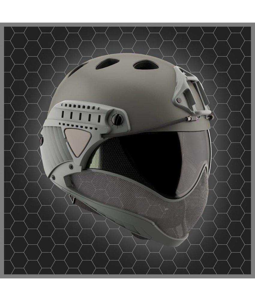 WARQ Full Face Mask & Helmet KIT (Grey)