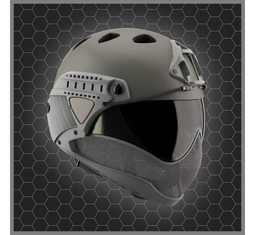 Full Face Mask & Helmet (Grey)
