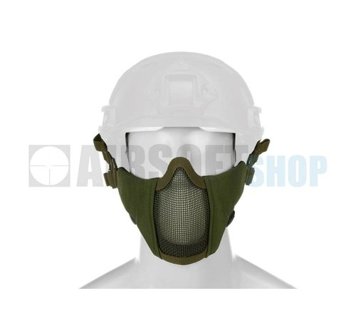 Invader Gear Mk II Steel Mesh Mask FAST Helmet Version (Olive Drab)