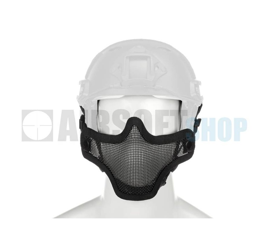 Steel Mesh Mask FAST Helmet Version (Black)