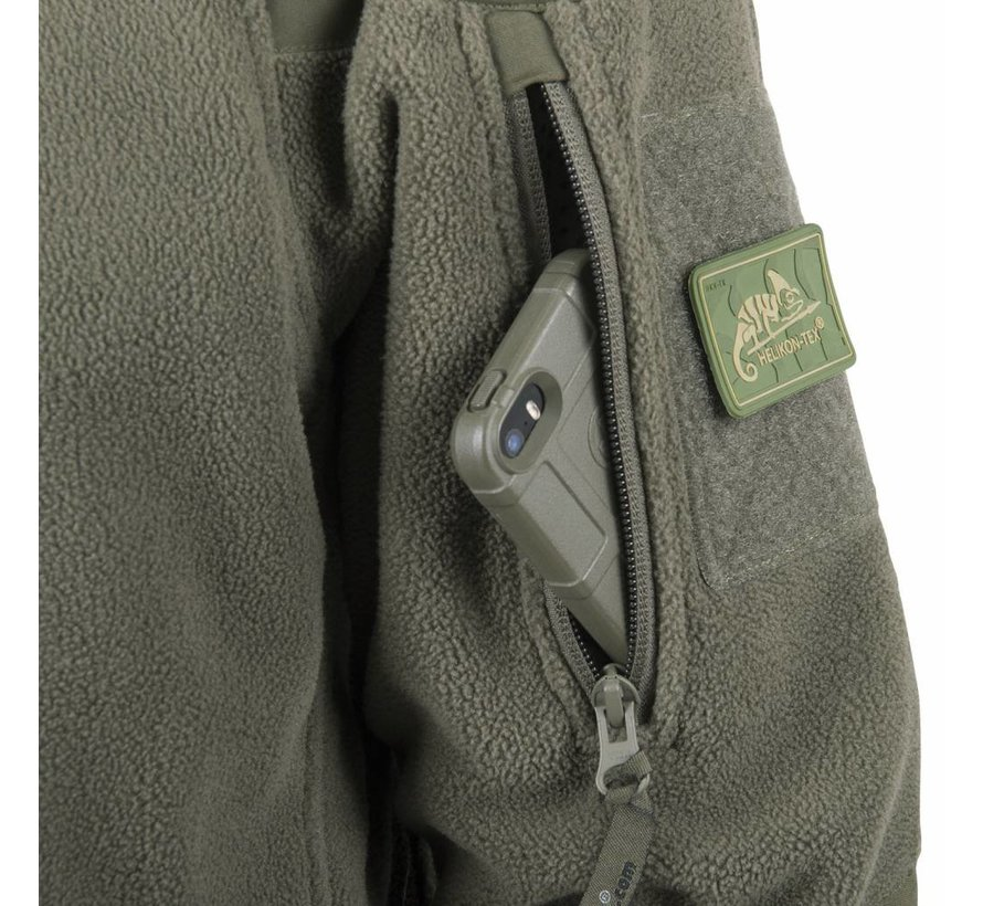 Cumulus Heavy Fleece Jacket (Olive Green)