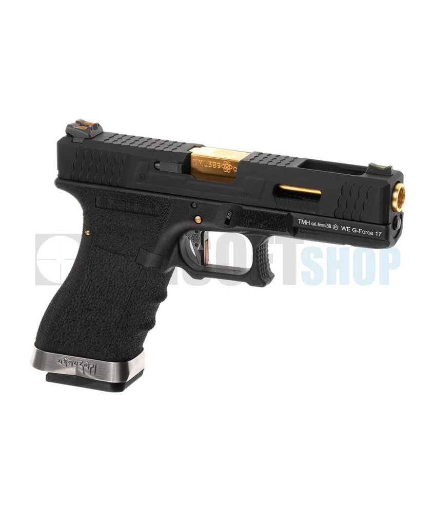 WE WE17 Custom BK Gold Barrel GBB (Black)