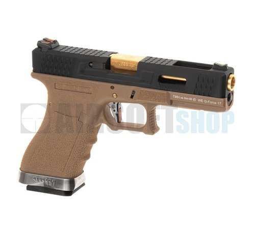 WE WE17 Custom BK Gold Barrel GBB (Desert)