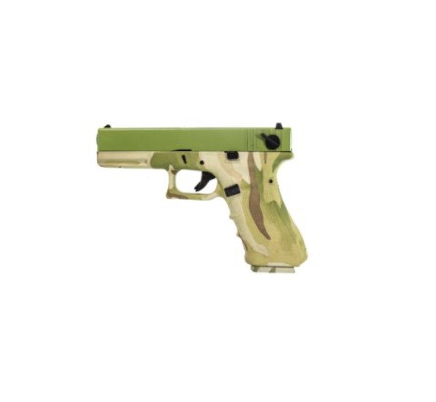 EU17 GBB (Camo Frame + Green Slide)