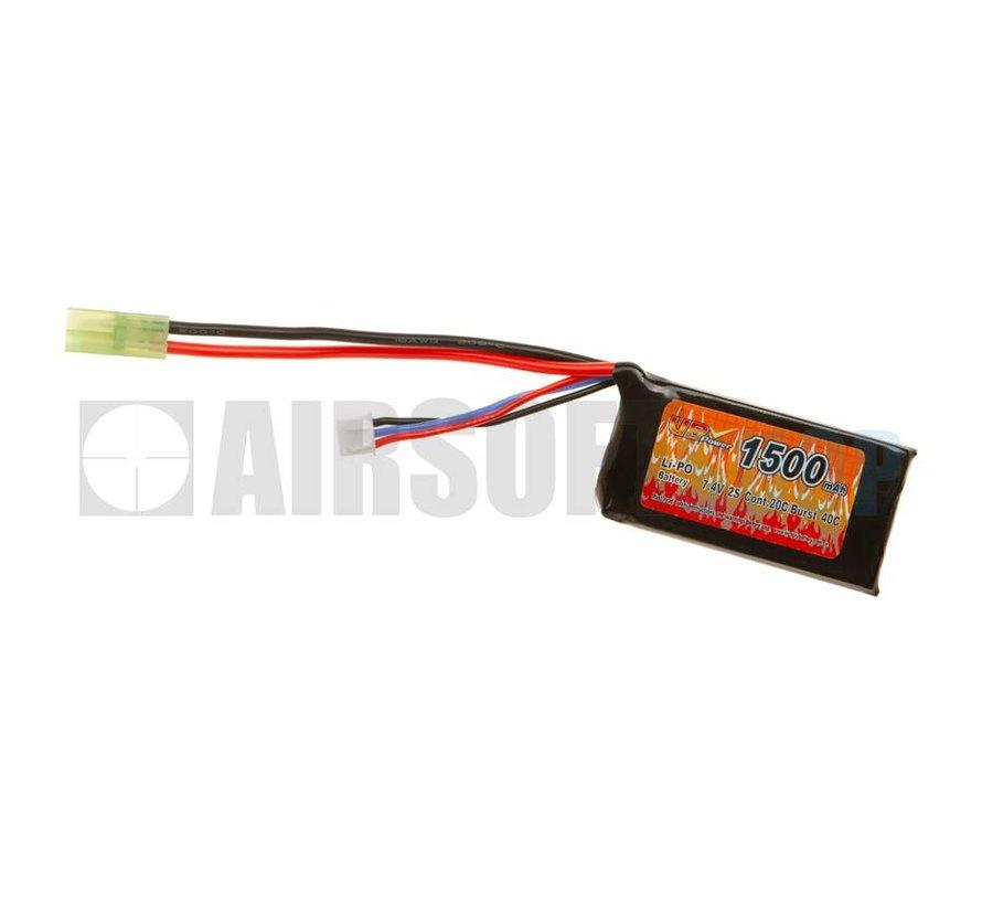 LiPo 7.4V 1500mAh 20C Mini Type (Tamiya)