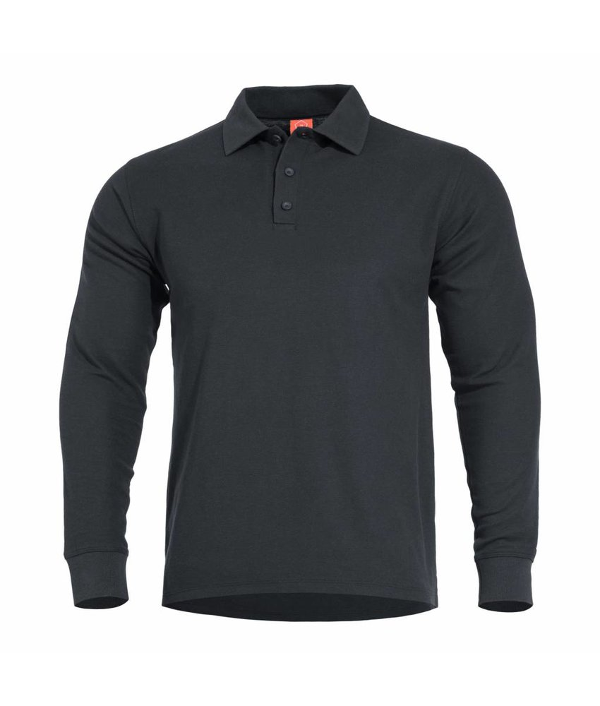 Pentagon Aniketos Polo Long Sleeve Shirt (Black)