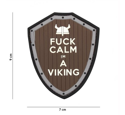 101 Inc Fuck Calm Viking PVC Patch (Brown/Grey)