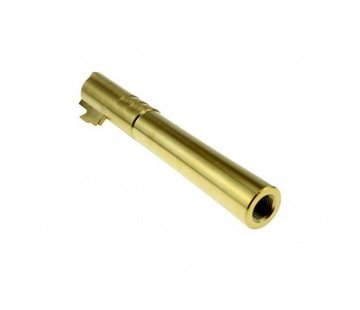 COWCOW Technology Hi-Capa OB1 5.1 SS Threaded Outer Barrel  (Gold)