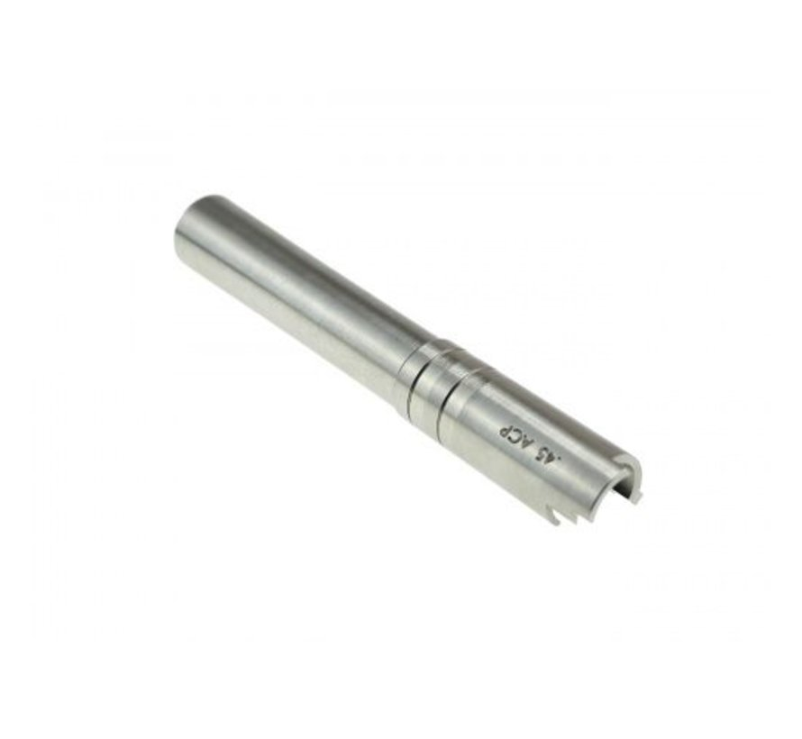 Hi-Capa OB1 5.1 SS Threaded Outer Barrel (Silver)