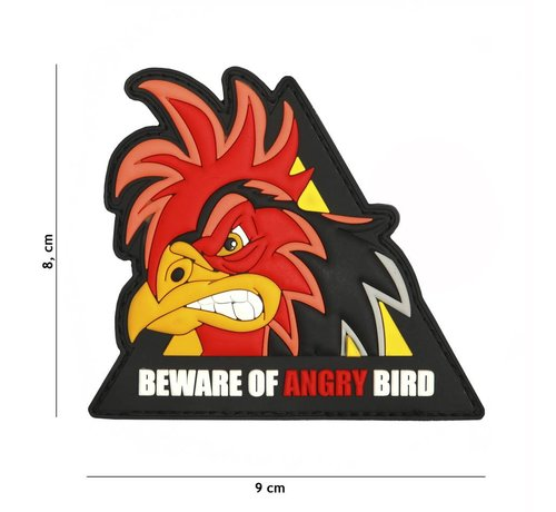 101 Inc Beware Of Angry Bird PVC Patch