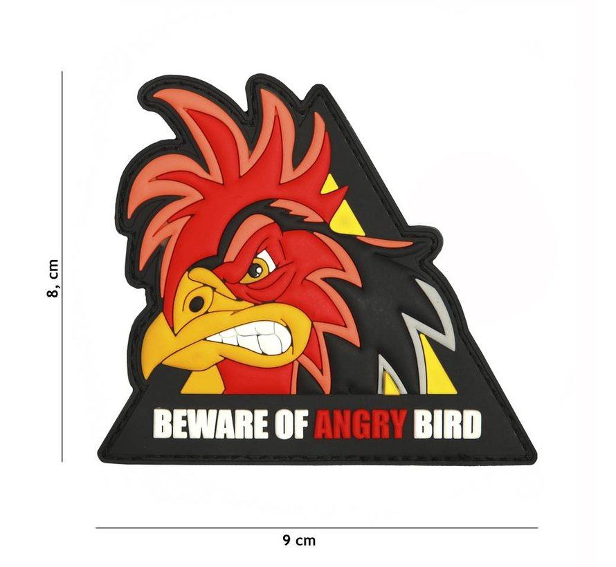 Beware Of Angry Bird PVC Patch