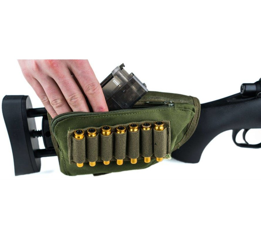 Rifle Stock Ammo Pouch (Black)