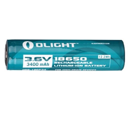 Olight 3.6V Li-On Rechargeable Battery 18650 (3400mAh)