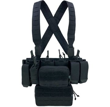 Pitchfork MCR Modular Chest Rig Complete Set (Black)