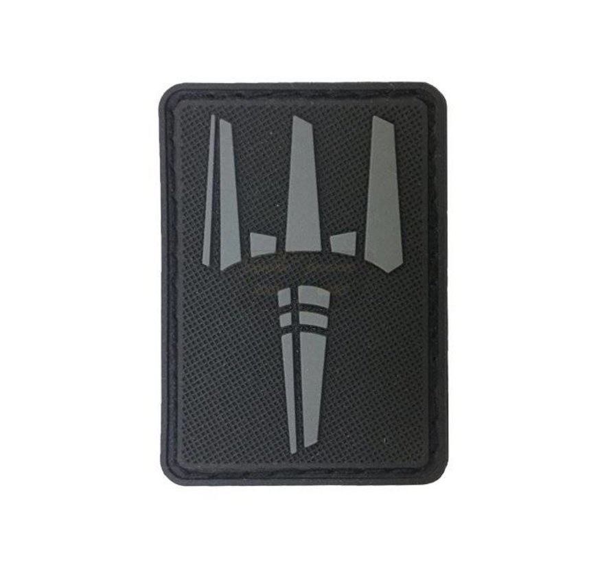 The Trident Patch (Black)
