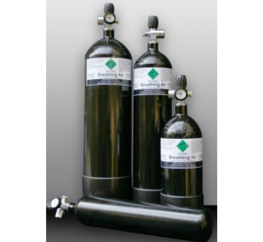 Duikfles 7 liter 300 BAR + Mano + 500mm 1/8″ BSB H&B