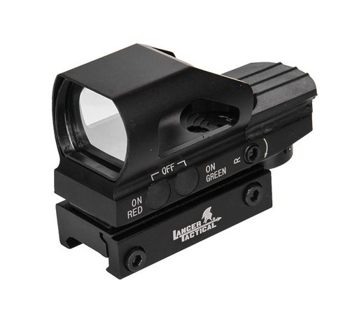 Lancer Tactical Reflex Sight Green / Red (Black)